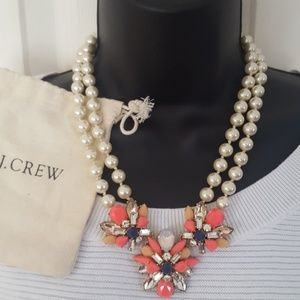 J.Crew pearl statement  necklace